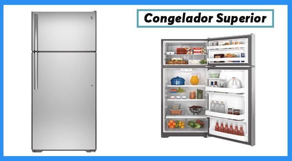 Refrigerador con congelador superior