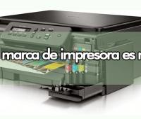 ¿Qué marca de impresora es mejor?